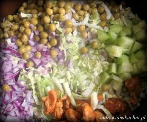 Sałatka kebabowa - składniki
